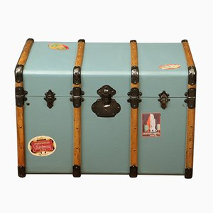 Vintage French Steamer Trunk, 1920s