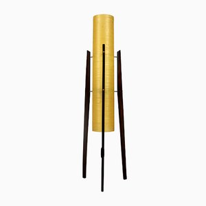 Fiberglass & Wood Rocket Floor Lamp from Novoplast Sered, 1960s