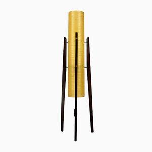Lámpara de pie Rocket de fibra de vidrio y madera de Novoplast Sered, años 60
