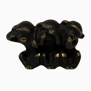 Three Wise Monkeys Figurine by Walter Bosse for Herta Baller, 1950s