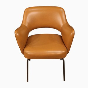 Italian Leatherette Armchair from Mobiltecnica Torino, 1980s