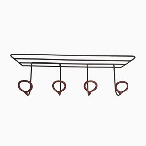 Vintage Coat & Hat Rack by Jacques Adnet, 1950s