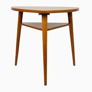 Tavolino da caffè tripode in quercia di Cesky Nabytek, anni '60