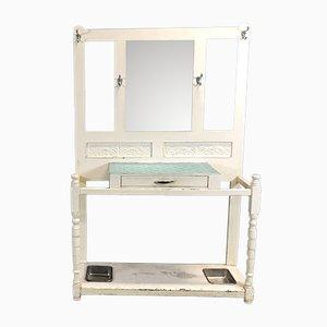Mueble de recibidor vintage con espejo, años 50