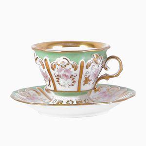 Antike Biedermeier Teetasse & Untertasse von Aich