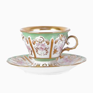 Antique Biedermeier Tea Cup & Saucer Set from Aich