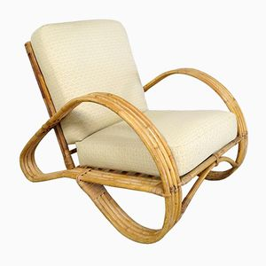Rattan Lounge Chair from Rohé Noordwolde, 1950s