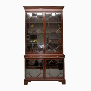 Antique George III Mahogany Two Section Bookcase
