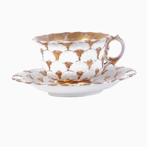 Antique Biedermeier Tea Cup & Saucer Set by Tannawa