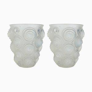 Vase Spirales en Verre Opalescent par René Lalique, 1930s