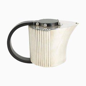 Versilberte Kaffeekanne aus Palisander von Jean Puiforcat, 1920er