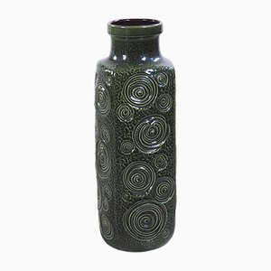Large Green Ceramic Jura Vase by Oswald Kleudgen for Scheurich, 1970s