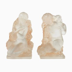 Figurines Printemps par René Lalique, 1930s, Set de 2