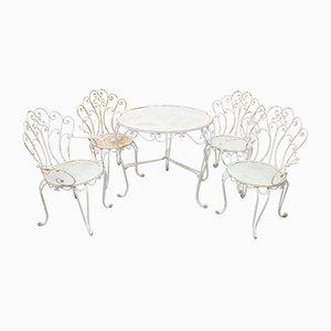 Set aus Gartentisch & Stühlen, 1960er
