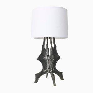 Brutalistische französische Lampe, 1950er