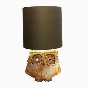 Eulenlampe aus Keramik, 1950er