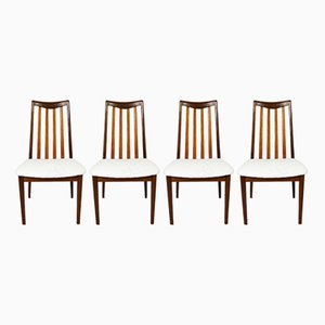 Afromosia Fresco Dining Chairs by Victor Wilkins for G-Plan, 1960s, Set of 4