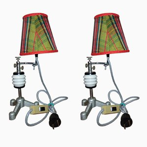 Vintage Industrial Table Lamps, Set of 2