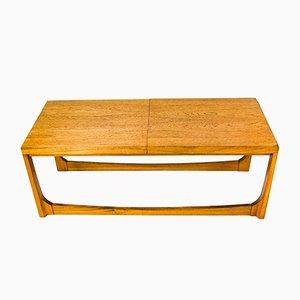 Tavolino da caffè grande allungabile in quercia e formica di Remploy, anni '60