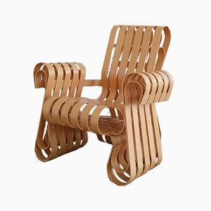 Sillón Power Play de contrachapado y fresno de Frank Gehry para Knoll, 2001