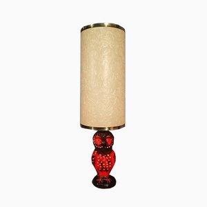 Lampada a forma di gufo in ceramica, anni '60