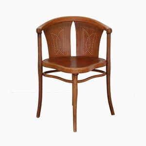 Chaise de Bureau Art Nouveau No. Hêtre & Bois Courbé de Thonet, 1900s