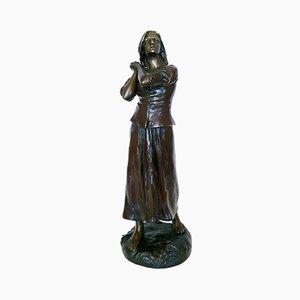 Sculpture Jeanne d'Arc Antique par Raoul Larche
