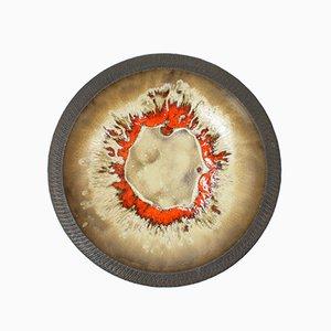 Plato mural danés de cerámica de Løvemose Keramik, años 60