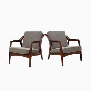 Teak Armchairs by H.Brockmann Petersen, 1960s, Set of 2