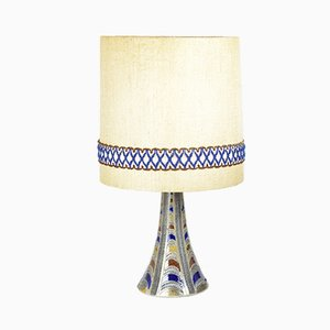Large German Table Lamp with Lampshade, 1960s