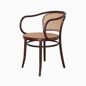 No. 210 Bentwood & Rattan Dining Chairs from Ligna, 1960s, Set of 4