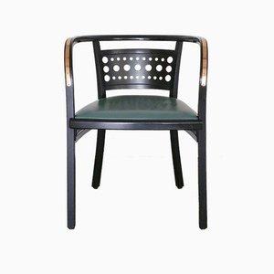 Postsparkassen Stuhl aus Leder, Metall & Holz von Otto Wagner für Thonet, 1992