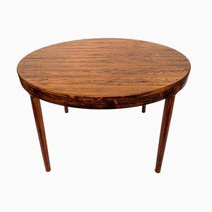 Mesa de comedor extensible de palisandro de Ib Kofod-Larsen, años 50