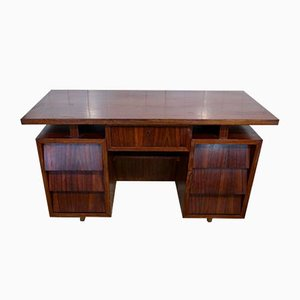 Portuguese Rosewood Executive Desk, 1950s
