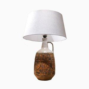 Lámpara de mesa alemana Mid-Century grande de cerámica, años 60