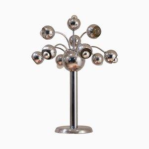 Lámpara de mesa italiana cromada, años 60