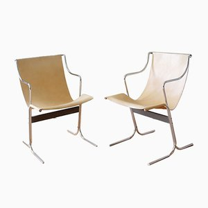 Cigno Chairs by Ross Littell for ICF of Padova, 1960s, Set of 2