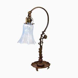Lámpara de mesa modernista de cobre, década del 1900