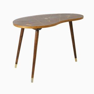 Tavolino da caffè Mid-Century in alluminio e faggio, anni '60