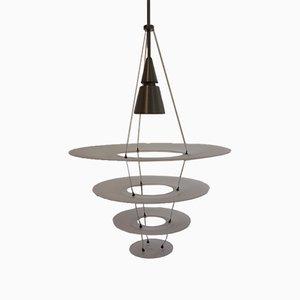 Lampada modernista in alluminio ed acrilico di Shoichi Uchiyama per Louis Poulsen, inizio XXI secolo