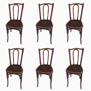 Bistro Chairs from Thonet, 1920s, Set of 6