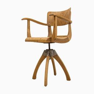 Silla de escritorio industrial vintage de Ama Elastik, años 30