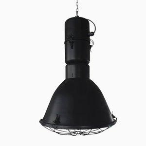 Lámpara de fábrica industrial grande de Polam Elgo, 1987