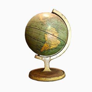 Kleine lithographierte Dose Globus von J. Chein & Co., 1920er