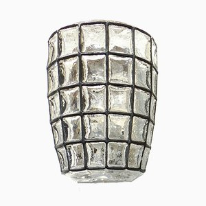 Vintage German Iron & Glass Sconce from Limburg, 1970s