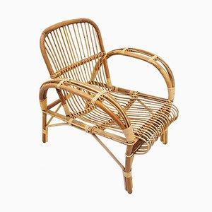 Französischer Vintage Stuhl aus Rattan, 1960er