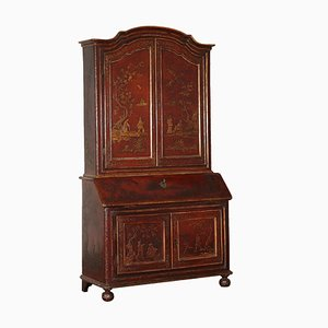 Antique Barocchetto Lacquered Bureau Cabinet