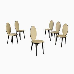 Chaises de Salon Vintage par Umberto Mascagni, Italie, Set de 6
