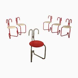 Vintage Binda Esszimmerstühle von Luca Leonori für Pallucco, 6er Set