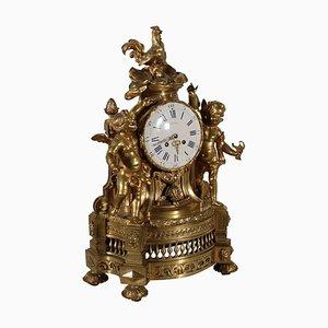 Pendule de Cheminée Antique en Bronze de Atelier Villard